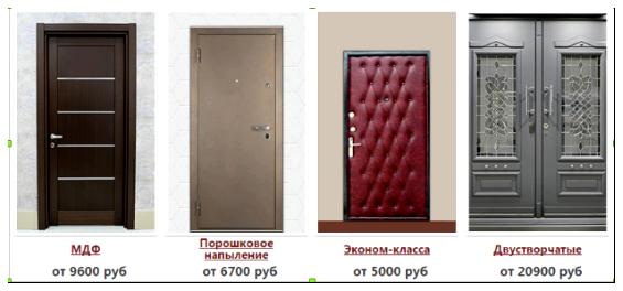 сколько стоит дверь входная и установка