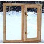 Деревянные окна из сосны — достоинство, уход, установка