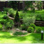 Дизайн приусадебного участка для отдыха отличается от оформления дачи, где выращивают фрукты и овощи