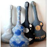 Гитара — handmade подушки и пуфики