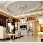Гостиная в классическом стиле: солидная элегантность