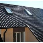 Крыши домов из металлочерепицы: фото