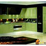Кухня оливкового цвета – отличный дизайн, красивое сочетание тонов!