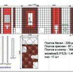 Обзор самых удачных вариантов укладки плитки в ванной с примерами и схемами раскладки