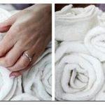 Оригинальный декор пуфика цветами из фетра и ткани