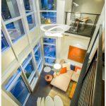 Современная модернизированная двухуровневая квартира лофт