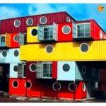 Варианты проектов домов из морских контейнеров с использованием одного и более составляющих