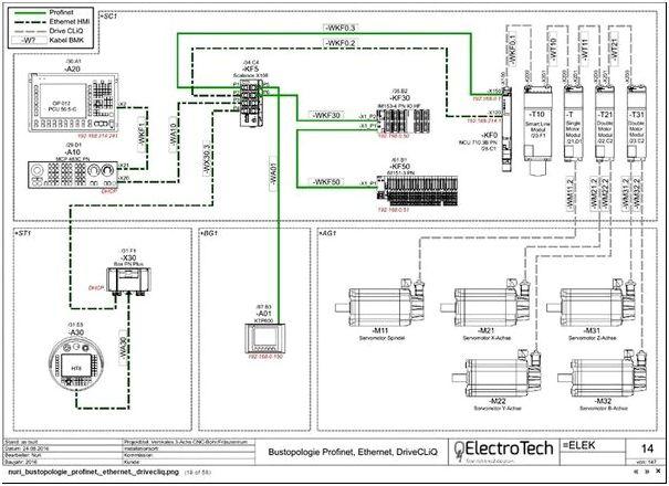 Фото 2 — Процесс составления чертежа в QElectroTech