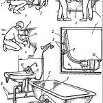 Инструкция по установке ванны. гидромасажные, стальные и пластиковые ванны