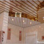 Оформление потолка в ванной – красивый дизайн и практичность