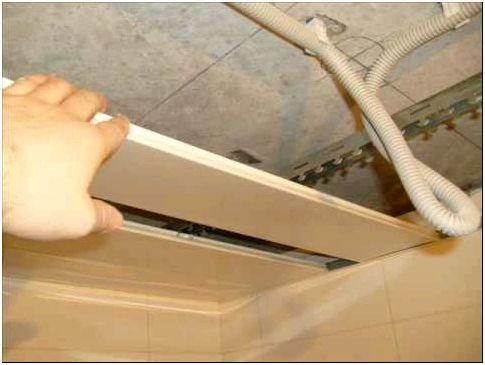Фото 5 - Проводка за подвесным реечным потолком
