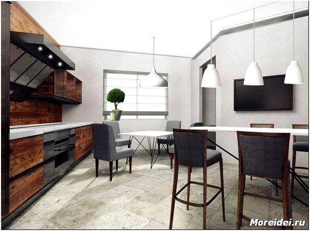 дизайн кухни 30 кв. м