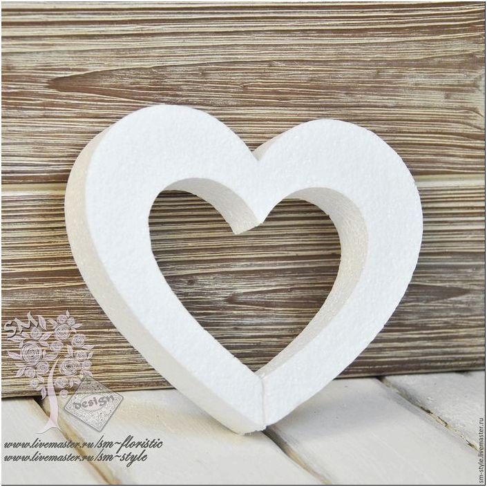 Купить Сердца из пенопласта (7 размеров) - белый, Декор, материалы ...