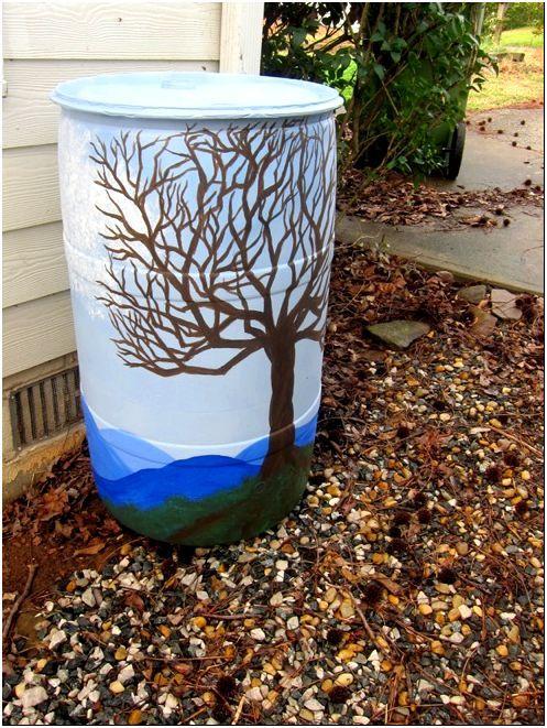 Рисуем картину на мусорном баке