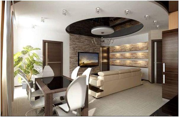 Фото 2 - Дизайн гостиной-столовой
