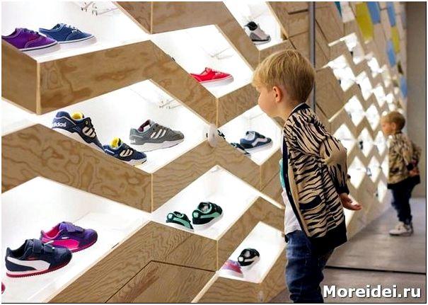 дизайн магазина детской обуви