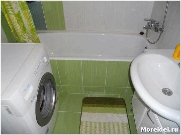Дизайн ванной в маленькой квартире