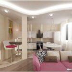Дизайн кухни-гостиной 18 кв. м: : зонирование, отделка, выбор и расстановка мебели