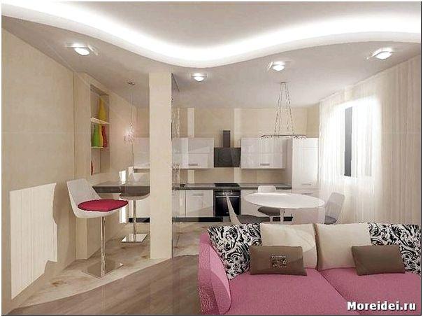 дизайн кухня гостиная 18 кв м