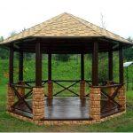 Крыша беседки – надежная защита в жару и дождливую погоду
