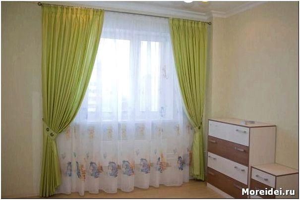 дизайн окна в детской комнате