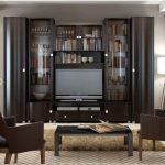 Угловые стенки для гостиной – когда мало места