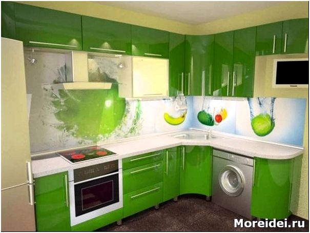 дизайн кухни из пластика