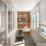 Как продумать стильный и уютный дизайн кабинета на лоджии?