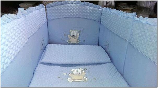 Детская кроватка с мягкими бортиками для новорожденных: безопасно и красиво