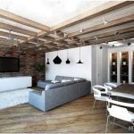 Оформление маленькой квартиры в стиле лофт: принципы и способы декора