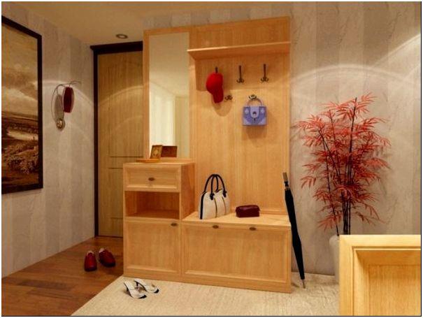 Виниловое покрытие для коридора с практичной мебелью