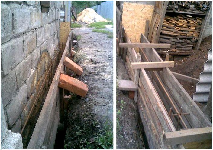 Строительство забора из профнастила с кирпичными столбиками ...