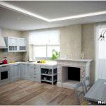 Как продумать дизайн кухни — гостиной с камином?