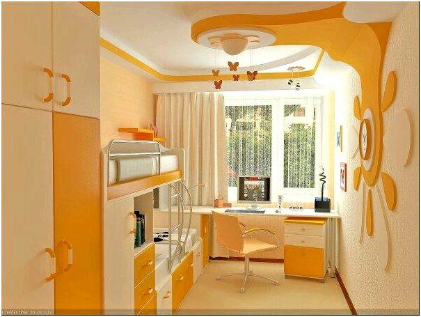 Фото 1 - Интерьер детской комнаты в желтых оттенках
