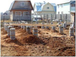 На фото - строительство свайного фундамента, postroy-prosto.ru