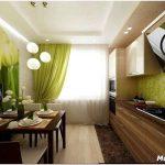 Как выполнить отделку, расставить мебель и выбрать цвет для дизайна кухни 9 квадратных метров
