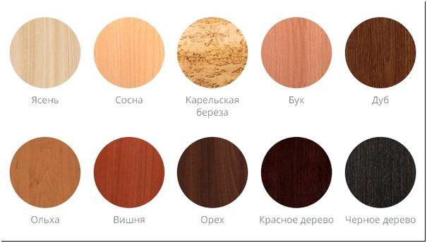 Фото 2 - Цвета древесины разных пород дерева