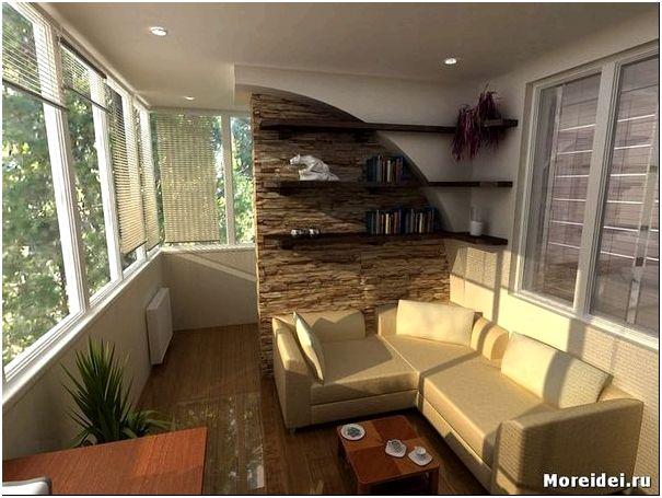 дизайн утепленных балконов