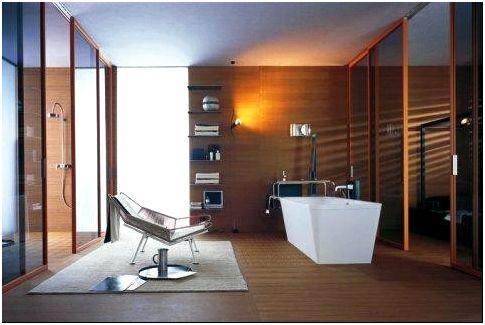 Хай-тек от итальянского дизайнера Антонио Читтерио (в отделке - дерево для создания атмосферы теплоты и уюта)