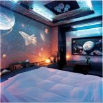 Космический стиль: детская комната для маленького космонавта