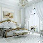 Воздушный дизайн спальни в белых тонах