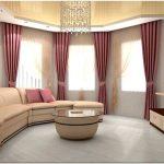Что надо учитывать разрабатывая дизайн полукруглой гостиной?