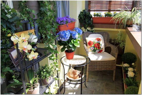 Фото 3 - Балкон, украшенный цветами