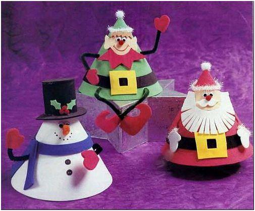 Фото 4 – Снеговики, сделанные из бумаги