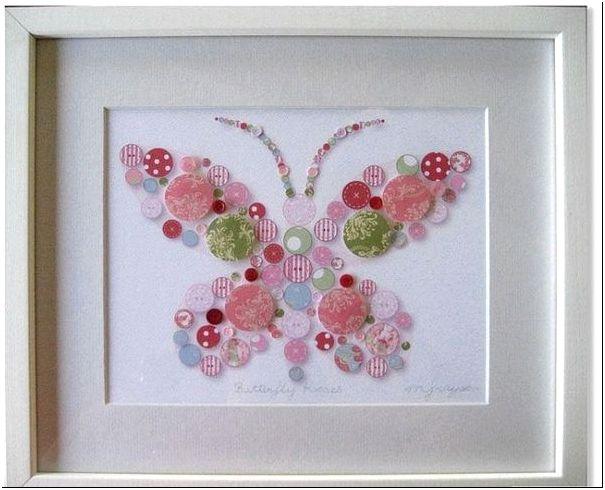 Фото 4 - Оригинальная бабочка из пуговиц