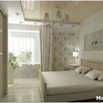 Дизайн натяжных и гипсокартонных потолков в спальне