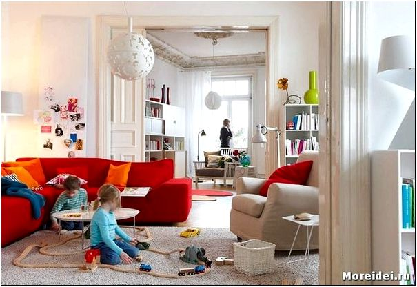 гостиная детская дизайн фото
