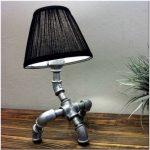 Настольная лампа своими руками — мечта сантехника