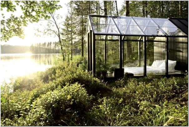 стеклянная спальня