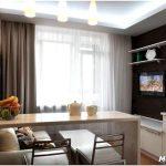 Как функционально разделить кухню-гостиную 15 кв. м?